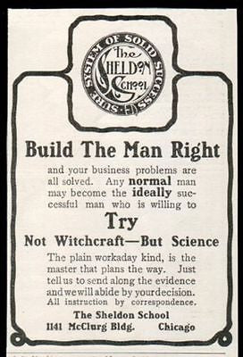 Not Witchcraft But Science Sheldon School 1905 AD