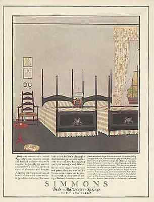 Simmons Alden Floral Interior Design Bedroom Suite 1923