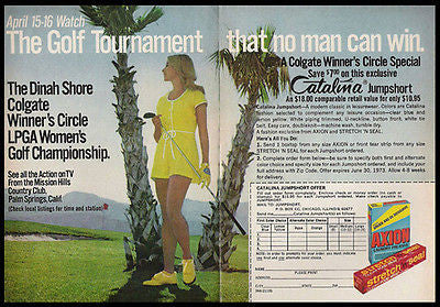 Dinah Shore Golf Tournament 1972 Gay Interest AD - Paperink Graphics