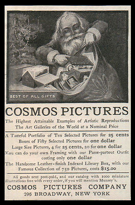 Santa Art Collections AD 1902 Cosmos Pictures Illustrated Antique Christmas AD