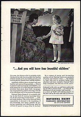 Fortune Teller Girl Cloth Doll 1943 Photo AD National Dairy