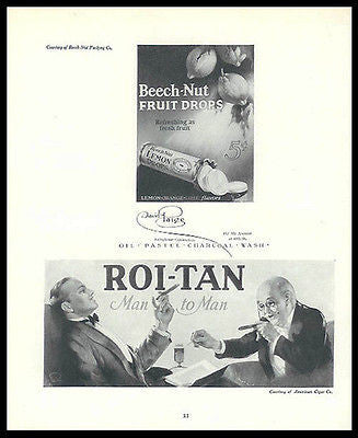 Roi-Tan Cigars David Paige 1926 Scarce Artist Promo Ad - Paperink Graphics