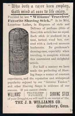 Shaving Stick J.B. Williams Co. Glastonbury CT 1886 AD