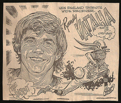 Randy Vataha Football Sports Cartoon Caricature Newspaper Clipping