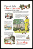 Banff and Lake Louise Golfing Sports 1952 Canadian Pacific Ad - Paperink Graphics