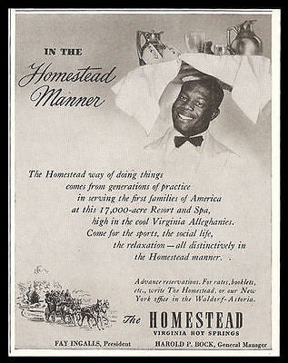 Homestead Manor Virginia 1948 AD Resort Spa Travel Tourism Advertisement - Paperink Graphics