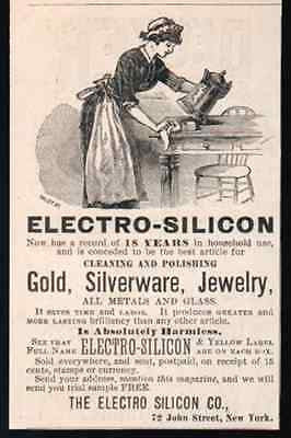 Electro Silicon Gold Silver Polish Clean Glass 1884 AD