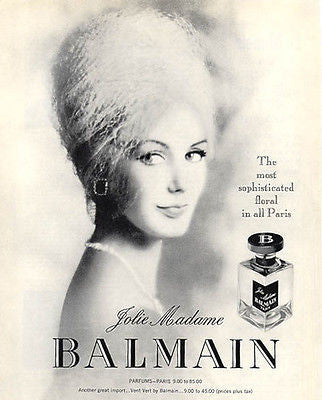 Perfume Jolie Madame Balmain Paris Sophisticated Deco Bottle Design 1937 AD