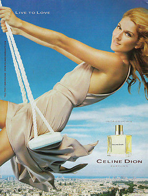 Celine Dion Perfume Live To Love Photo 2003 Perfume AD - Paperink Graphics