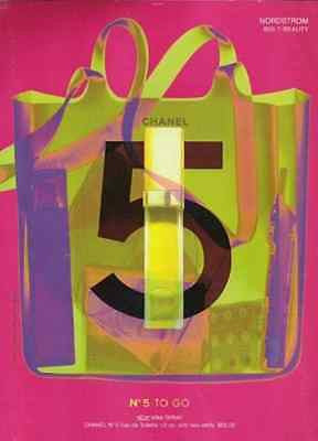 CHANEL No.5 To Go Perfume 2001 Pink Green AD