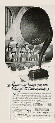 Magnavox Reproducer M1 Receiving Set Huge Horn 1923 Choir Print Ad - Paperink Graphics