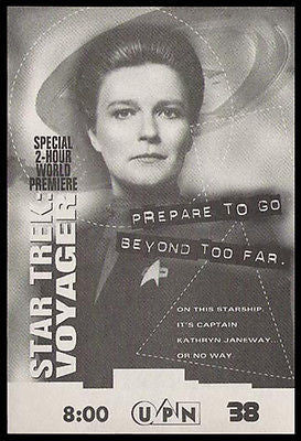 Orange is the New Black Kate Mulgrew Star Trek Voyager Captain Janeway 1995 Ad