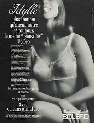 Bolero French Lace Bra 1966 Lingerie Intimate Ad