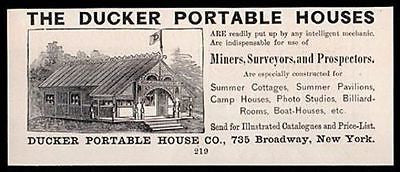 Ducker Portable House Pre-Fabricated 1889 AD - Paperink Graphics