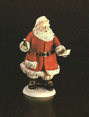 Soda Pop Santa Claus 1983 Christmas Illustration Red Robe Soda Bottle