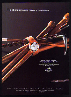 Hermes AD Paris Harnais Steel Watch 1997 Magazine Advertising Page