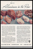 Aluminum Raw Bauxite 1938 Metallic Minerals Photo  Ad ALCOA