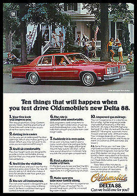 Oldsmobile Delta 88 Red Royale Town Sedan 1976 Automobile Ad