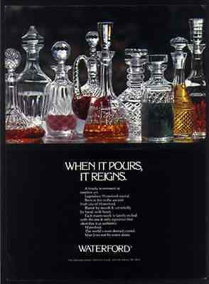 Advertisement Waterford Crystal 1978 Vintage Glass Decanters Ad - Paperink Graphics