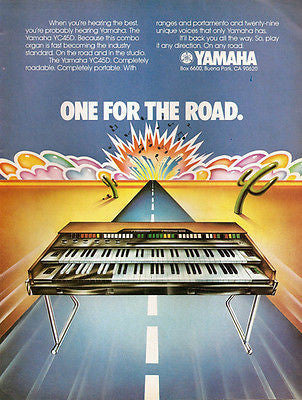 Yamaha Vintage 1975 Ad YC45D Combo Organ Musical Keyboard Instrument Advertising - Paperink Graphics