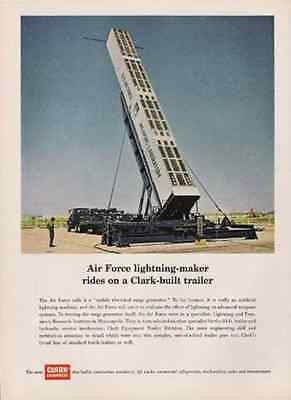 Lightning Maker 1965 AD Scientific Instrument Air Force Lab Clark Trailer - Paperink Graphics