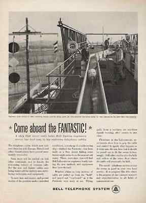 Ship Fantastic Bell Lab Dry Land Cable Ship 1960 Bell Photo AD