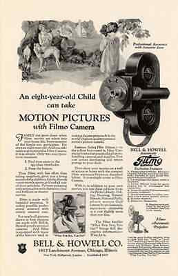 Borzoi Dog Bell & Howell Camera Motion Pictures 1927 AD - Paperink Graphics