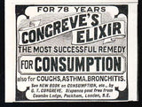1906 Quack AD Congreve's Elixir for Consumption Asthma Medicine - Paperink Graphics