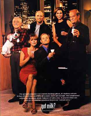 Frasier Cast Eddie Jack Russell Terrier Dog Television Show 1998 AD got milk ? - Paperink Graphics