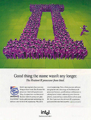 Purple People Parade Intel Pentium II 1997 Photo AD