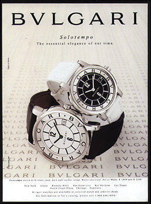 Bulgari Solotempo Watch AD 1997 Advertisement