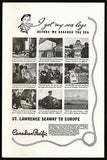 St Lawrence Seaway to Europe Canadian Pacific Ships 1934  Photo Ad