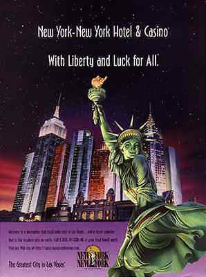 Lady Liberty Las Vegas 1996 New York Hotel Casino Travel AD