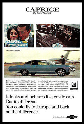 Chevrolet Caprice 1967 AD Custom Coupe Special Interior Car Print Advertising