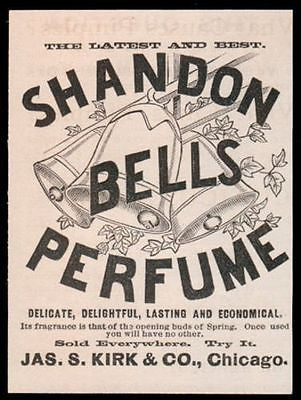 1890 Shandon Bells Perfume AD Jas. S. Kirk Co. Chicago - Paperink Graphics