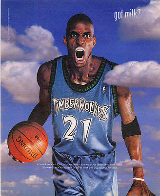 Kevin Garnett KG Basketball Player got milk? Dairy Promotion Ad 2002