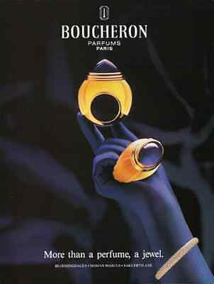 Boucheron 1995 Perfume AD Sensual Purple Glove Hand Photo Illustration Graphics - Paperink Graphics