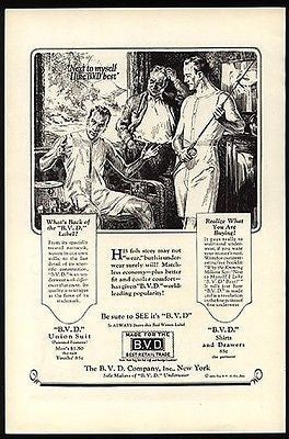 BVD Underwear Fishing Pole Basket 1926 AD Gay Interest Two Men - Paperink Graphics