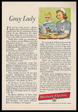 American Red Cross 1956 Volunteer AD Gray Lady Western Electric Advertisement