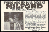 Milford on the Delaware Pennsylvania Milford Summer Resort Bureau 1915 Photo Ad