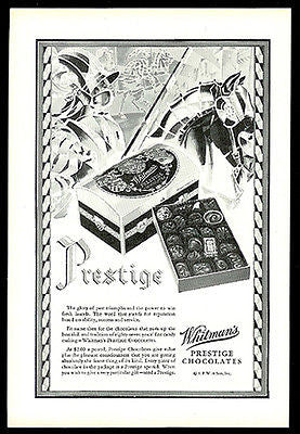 Deco Knight Horse Shining Armour 1929 Whitman Prestige Candy Ad - Paperink Graphics