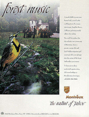 Golf Montreaux Country Club Tahoe Reno NV Real Estate 1997 AD Meadowlark