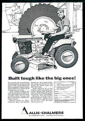 Allis-Chalmers Lawn and Garden 1967 Tractor Ad - Paperink Graphics