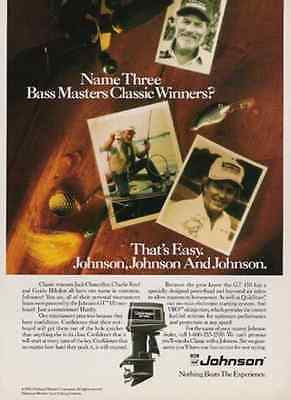 Johnson GT150 Bass Fishing 1990 AD Choice of Bass Masters Classic