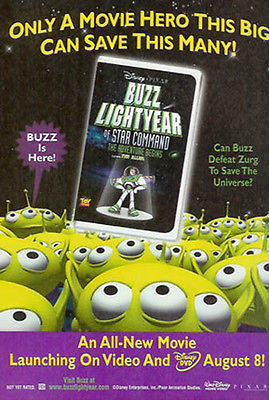 Can BUZZ Defeat Zurg? Buzz Lightyear 2000 Art Ad