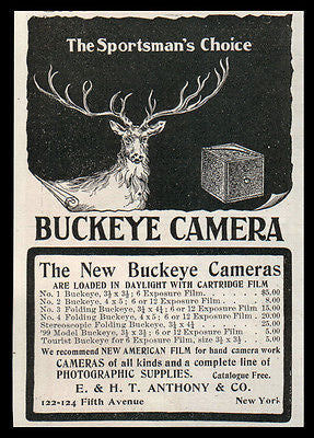 Buckeye Camera AD 1901 Cartridge Film Daylight Load 7 Styles Sportsman's Choice - Paperink Graphics