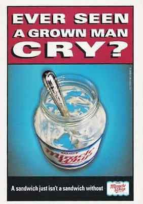 Kraft Foods Ever Seen A Grown Man Cry ? 1998 AD Kraft Miracle Whip