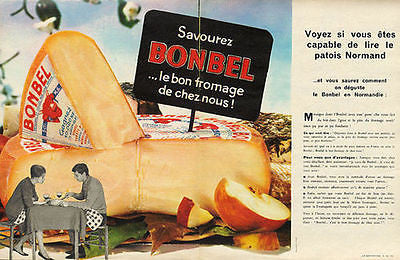 Bonbel Cheese AD 1962 France 2pgs Dairy Magazine Advertisement
