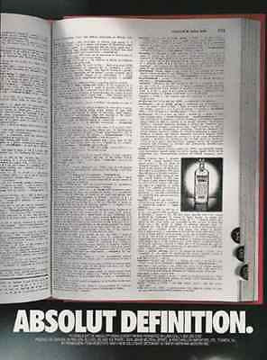 Absolut Definition Absolut Vodka Dictionary Merriam- Webster's Ninth 1989 AD