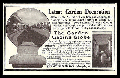Garden Gazing Globe 1911 AD Witch's Ball Garden Decoration Photos Illustrated AD
